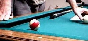 Stop or stun action on a cue ball in pool