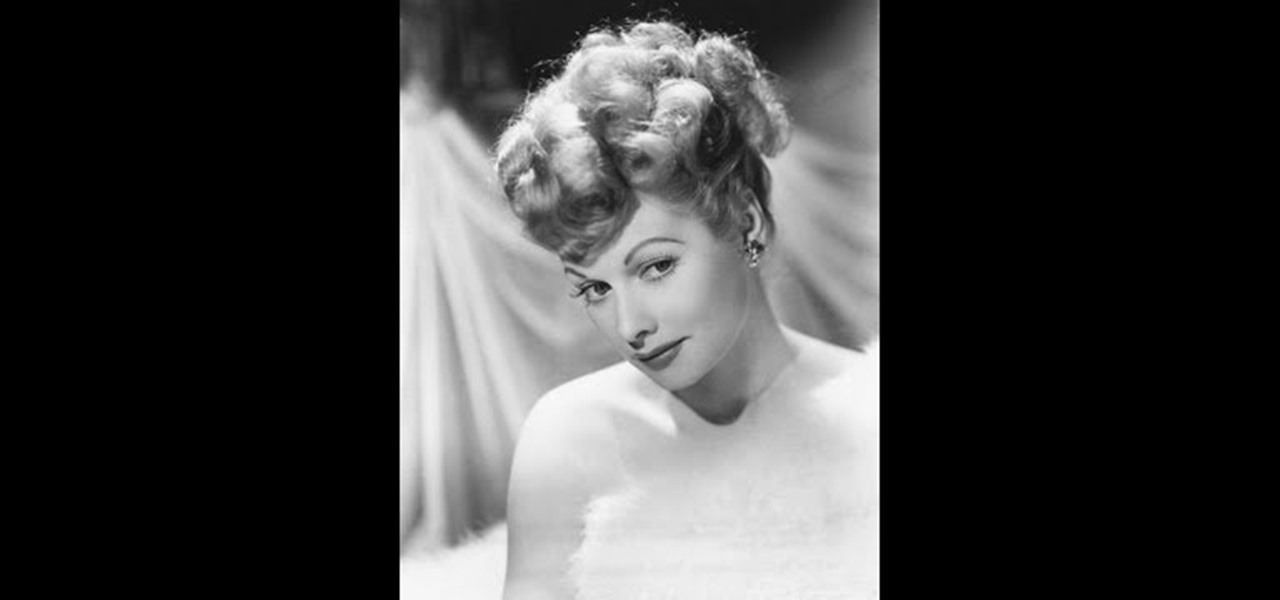 How To Get A Lucille Ball Inspired Pin Up Ponytail Hairstyling Wonderhowto