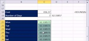 Allocate total costs across categories in Microsoft Excel