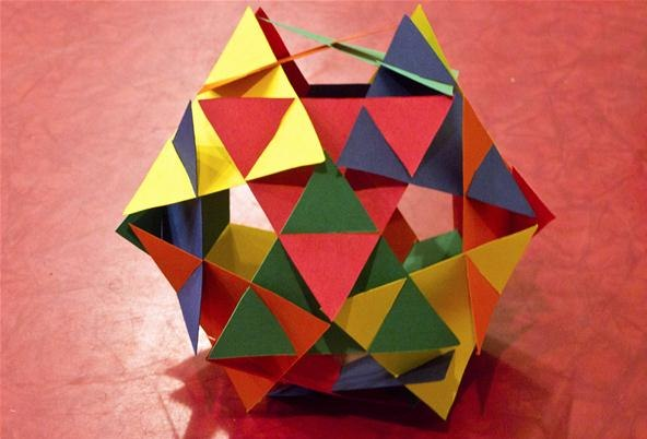 how to make a sphere out of paper triangles