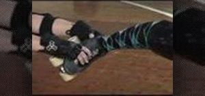 Do a leg whip for roller derby