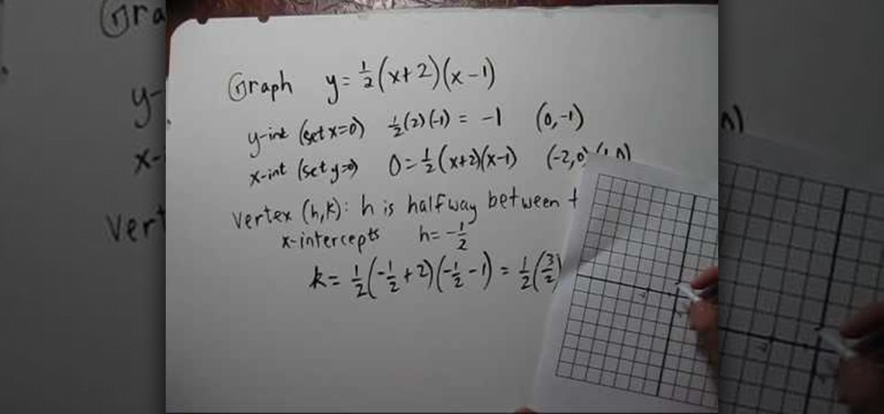 How To Graph A Quadratic Function In Factored Form Math Wonderhowto