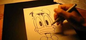 Draw Donald Duck on your own