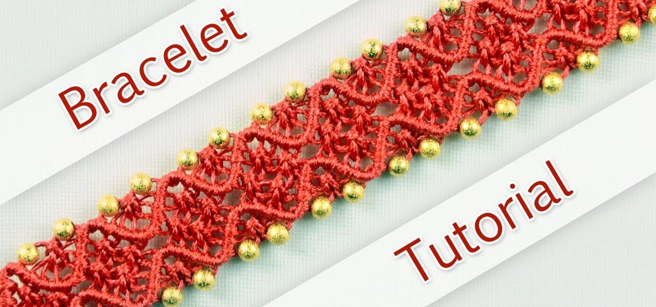 DIY Double Wave Macrame Bracelet