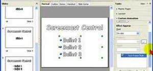 Create animated bullet lists in Open Office Impress