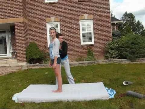Perform a back flip without using your hands