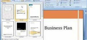 Build a document with building blocks in Word 2007