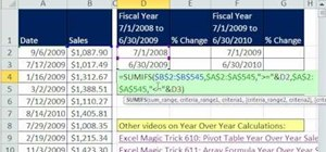 Add fiscal year sales in Microsoft Excel