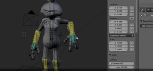 Create a full body rig for a 3D character in Blender