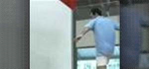 Retrieve a forehand from the back corner in squash