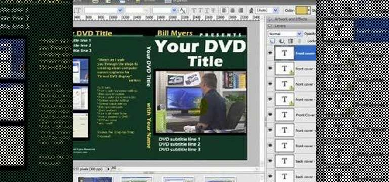How To Create Dvd Case Covers Using A Free Photoshop