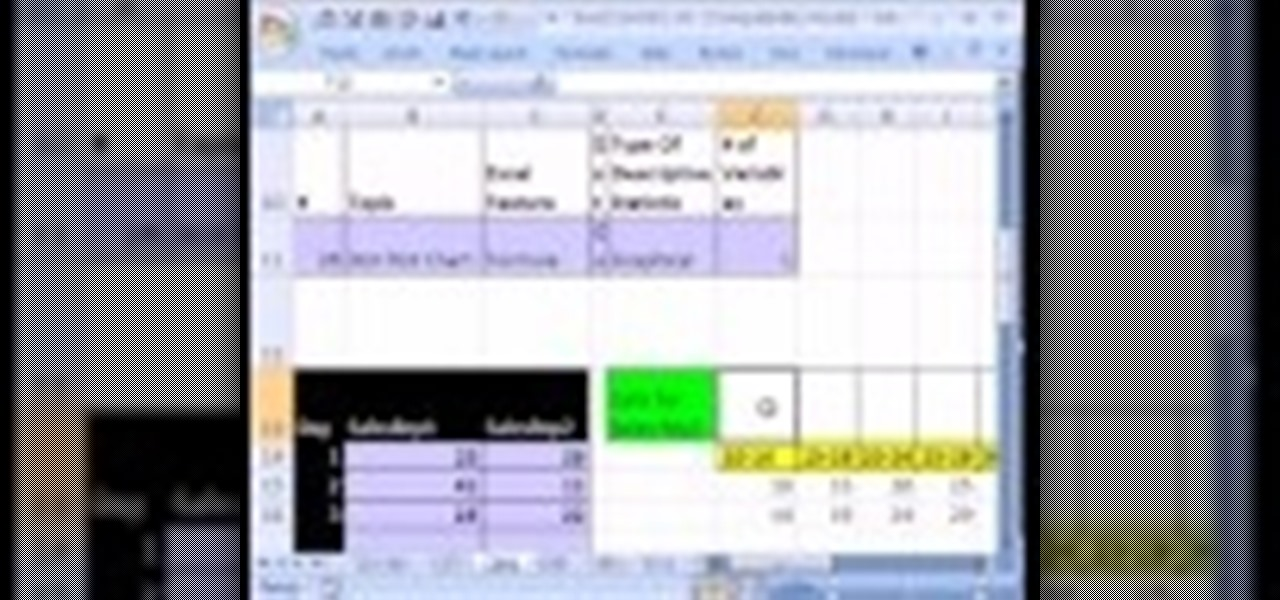 How to Create a stem & leaf chart with Excel's REPT