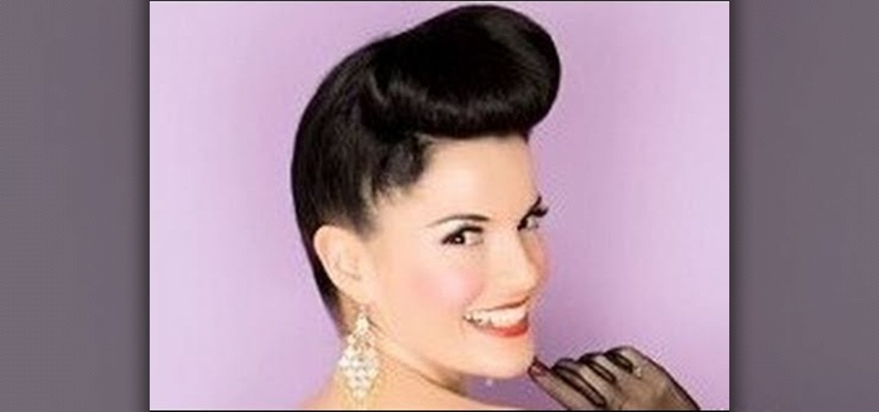 How To Create A 1950s Pin Up Girl Updo Inspired By Bernie Dexter