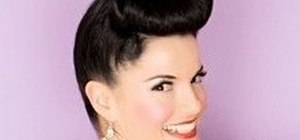 Create a 1950s pin up girl updo inspired by Bernie Dexter