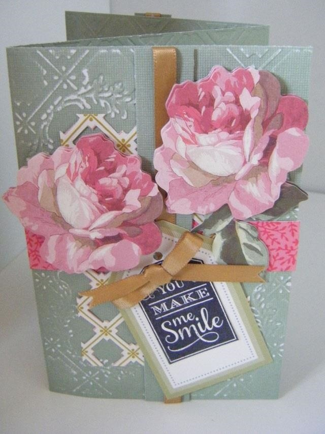 How to Make Tri-Fold Embossed Floral Card