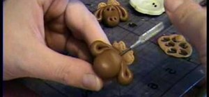 Make a moose bead out of polymer clay