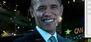 Photoshop Barack Obama into a hologram