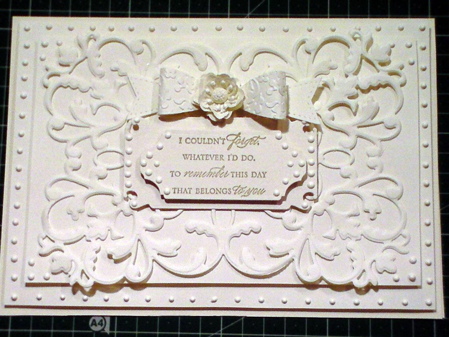 How to Make a A5 Ivory Elegant Fretwork Card