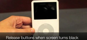 Restart a frozen iPod Classic or iPod Video with the Menu & Center buttons