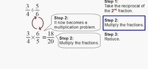 Divide two fractions quickly and easily