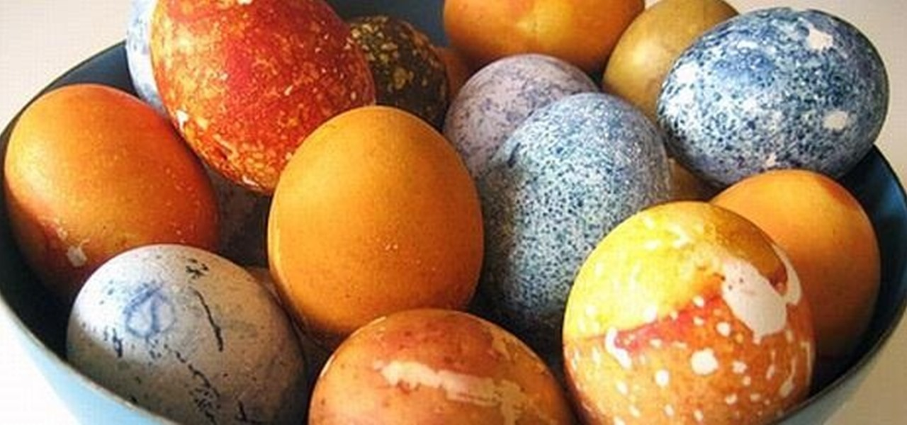 Make Gorgeous Patterned Easter Eggs Using Your Own Natural Homemade Dyes
