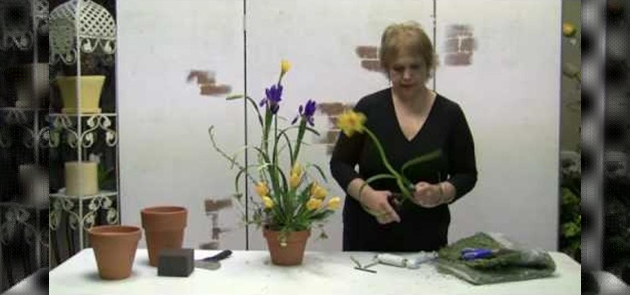 How To Make A Spring Arrangement Using Silk Flowers