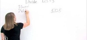 Do long division with decimals