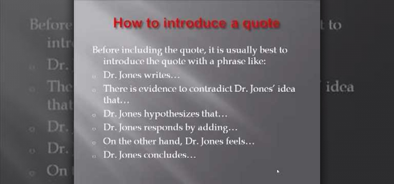 how to use quotes in a research paper
