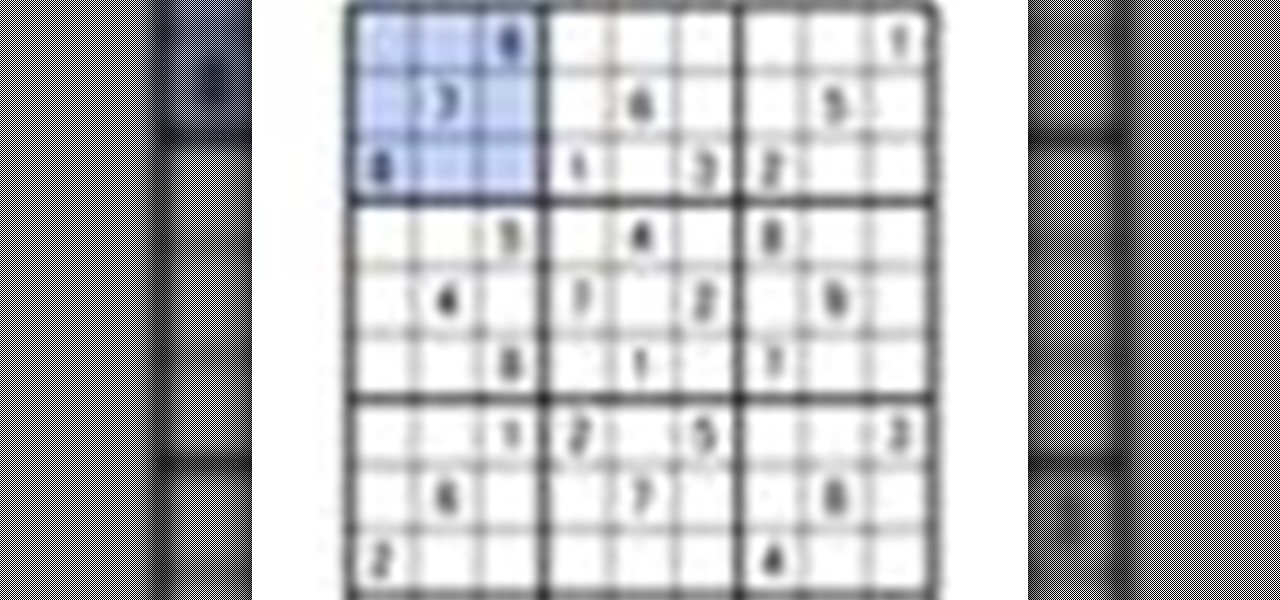 How to Solve a sudoku number logic puzzle « Puzzles :: WonderHowTo
