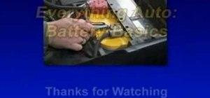 Understand car battery basics