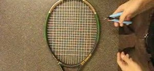 Cut strings out of a tennis racket