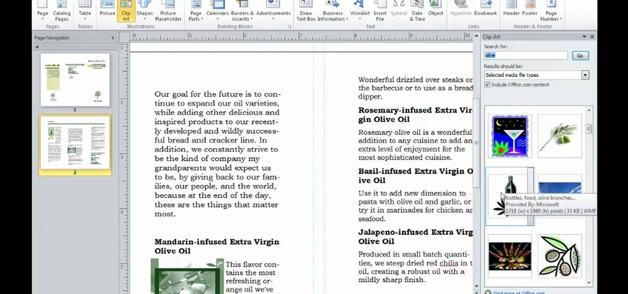 How to Insert clip art into a document in Microsoft Publisher 2010 ...