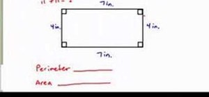 Find the perimeter & area of a rectangle