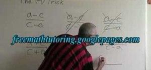 Simplify algebraic equations w/ the minus-one trick