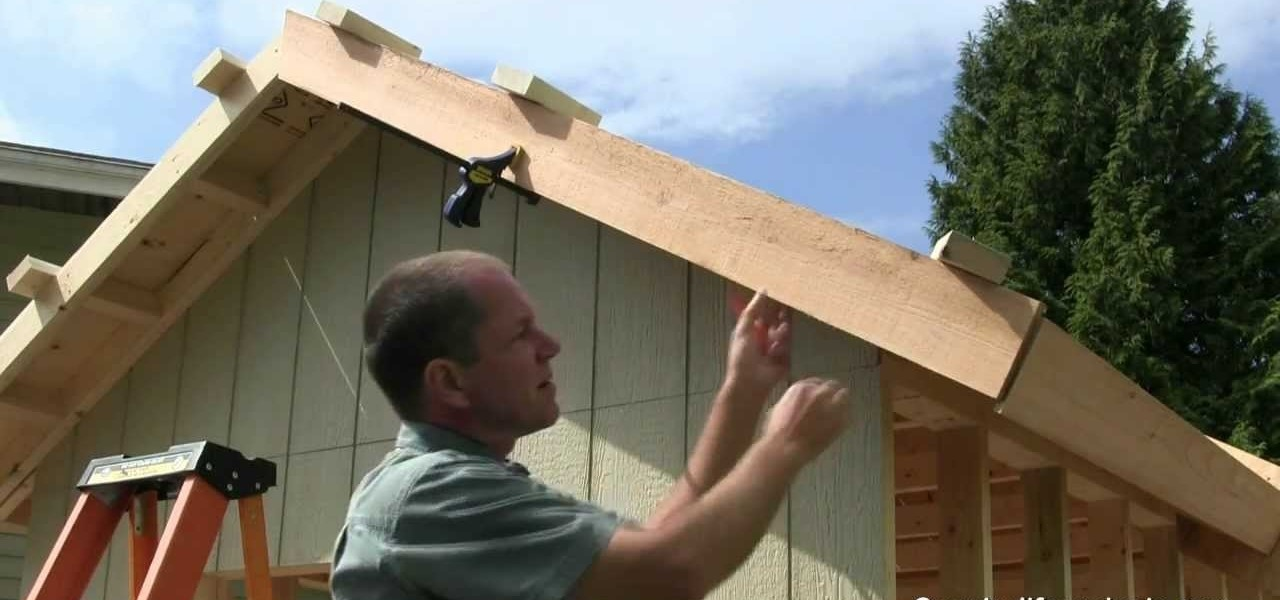 How To Build A Shed Part 11 Installing Fascia Boards