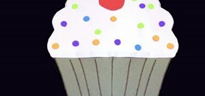 Make a cupcake out of colored construction paper
