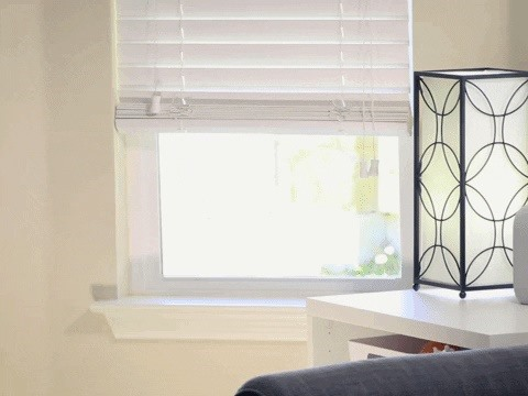 This trick makes it so much easier to lower your blinds all the way down