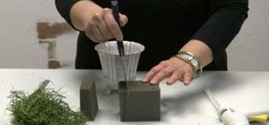 Foam a container for floral arrangements