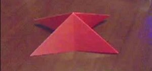 Origami a triangle base/ waterbomb