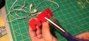 Make a headphone holder out of duct tape