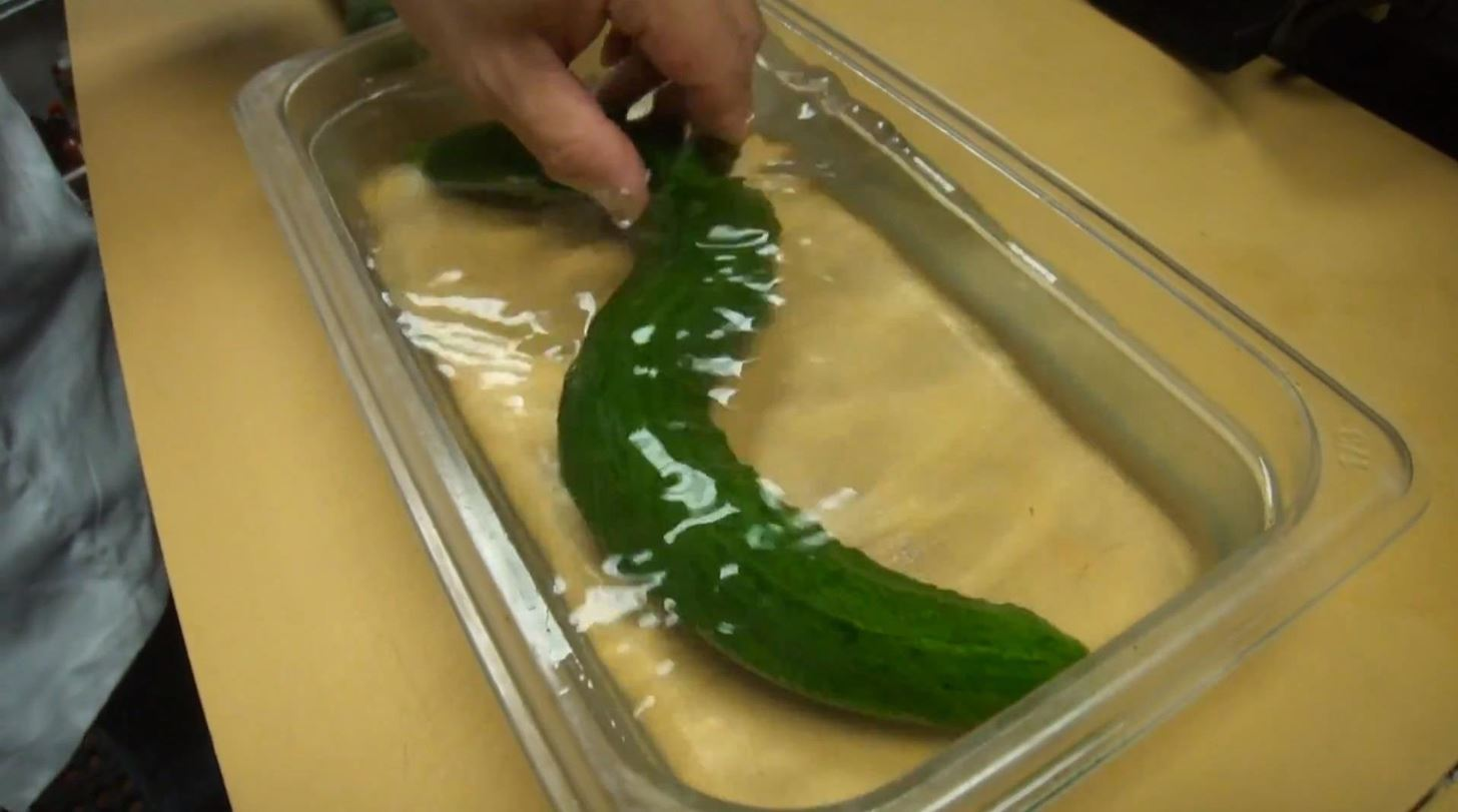 How to Turn an Innocent-Looking Cucumber into a Slithering Snake Using a Sharp Knife & Precise Cuts