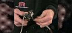 Set up an international standard (IS) brake caliper