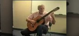 Hold your classical guitar properly