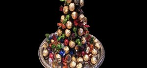 Make a stacked truffle Christmas tree