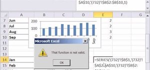 Use the SERIES chart function in Microsoft Excel 2010