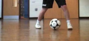 Do the Ronaldinho heel toe fake pass in soccer