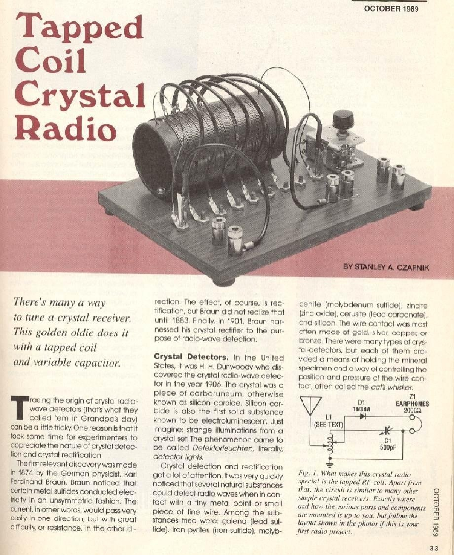 The Complete Guide On How To Build A Crystal Radioplus They Doityourself Oscillator Circuit Schematic Turning Coil Into Radio