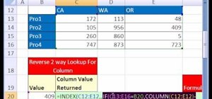 Do a reverse two-way lookup in Microsoft Excel