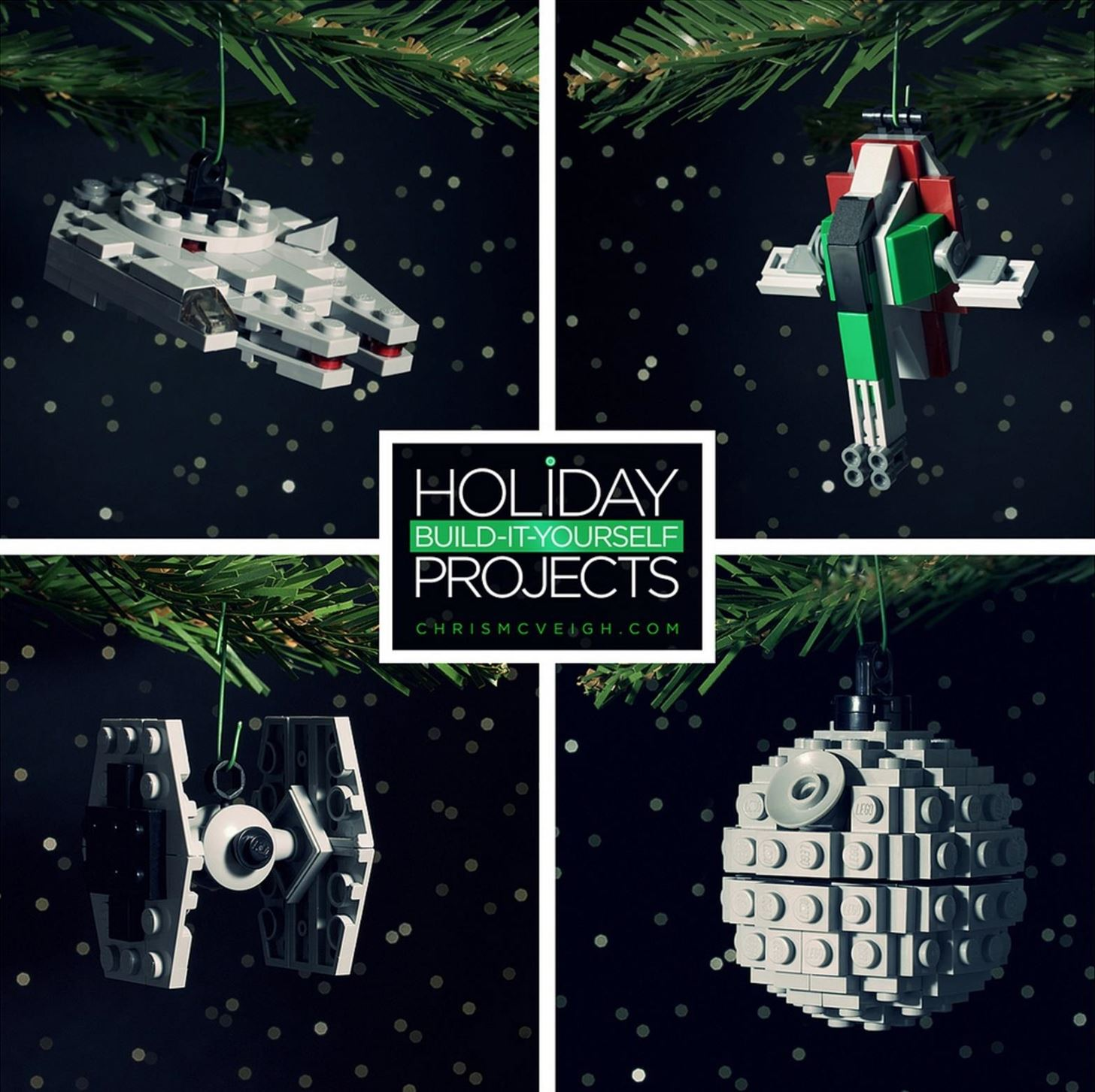 How to Build Star Wars Christmas Tree Ornaments Out of LEGOs