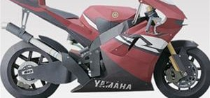 Make a Yamaha papercraft motorcycle YZR-M1